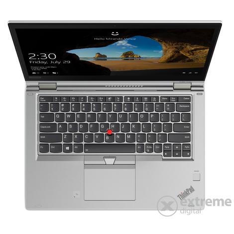 Lenovo ThinkPad X380 Yoga 20LH001NHV Touch notebook, ezüst + Windows 10 Pro