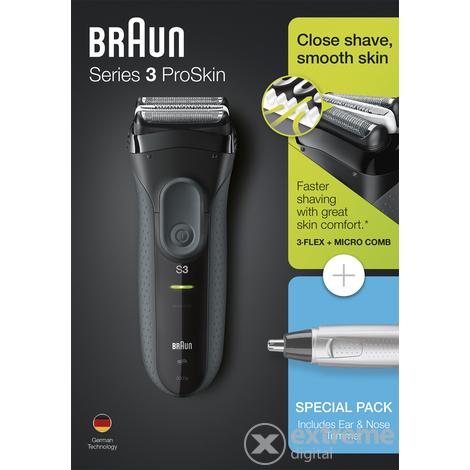 Braun 3 3000VS ProSkin borotva + Braun EN10 orr- és fülszőrnyíró ... a0dbeb87f2