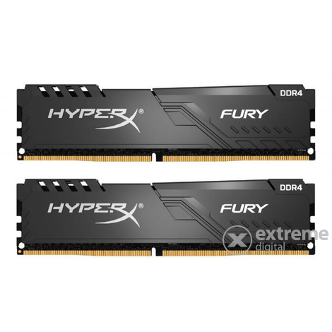 Kingston HX426C16FB3K2/8 HyperX Fury 8GB 2666MHz DDR4 CL16 DIMM memória modul, fekete, 2db