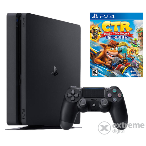 PlayStation® PS4 Slim 1TB  + 2бр. Dualshock 4 контролер+ Crash Team Racing
