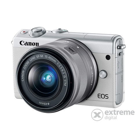 Canon EOS M100 fotoaparat kit(15-45mm IS STM objektiv), bijela