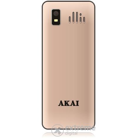 Akai PHA-2880 Metal kártyafüggetlen mobiltelefon DUAL SIM  Golden