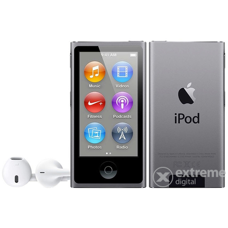Apple iPod nano, астро сив (mkn52hc/a)