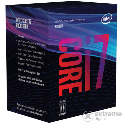 CPU Intel s1151 Core i7-8700K - 3,70GHz procesor