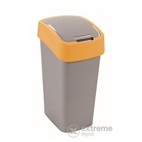 curver recycling abfalleimer mit schwingdeckel 50l kunststoff gelb grau extreme digital. Black Bedroom Furniture Sets. Home Design Ideas