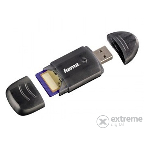 Card reader Hama 6 in 1 SDHC/SDXC, negru