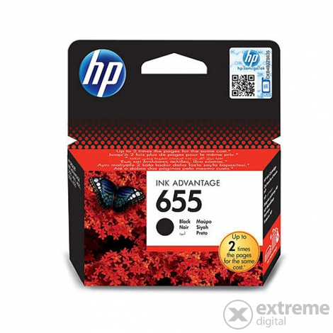 HP 655 Ink Advantage (CZ109AE) fekete tintapatron