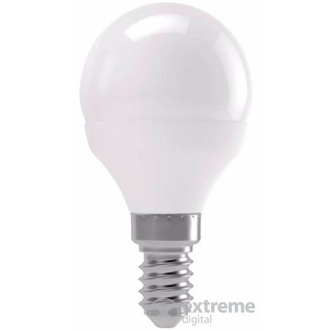 Emos LED izzó value kisgömb E14, 6W, WW (ZL3904)