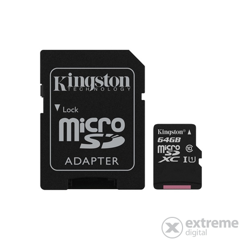 Kingston Secure Digital Micro 64GB Cl10 UHS-I U1 (80/10) Canvas Select pamäťová karta (SDCS/64GB)