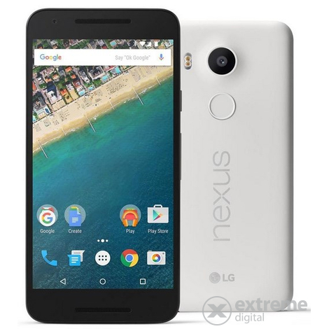 Мобилен телефон LG Nexus 5X 16GB, Quartz (Android)