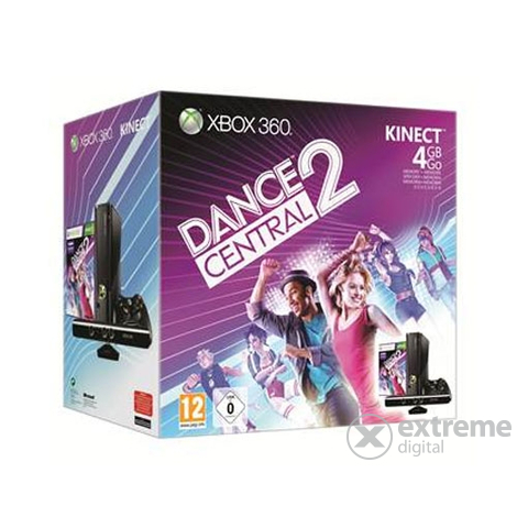 Microsoft Xbox 360 4GB Slim Kinect + Dance Central 2
