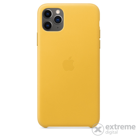 Apple iPhone 11 Pro Max bőrtok, sárga (mx0a2zm/a)