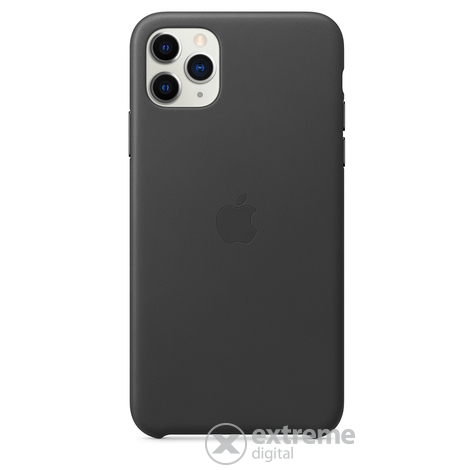 Apple iPhone 11 Pro Max bőrtok, fekete (mx0e2zm/a)