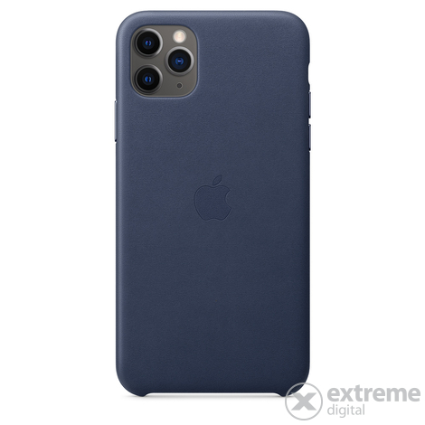 Apple iPhone 11 Pro Max bőrtok, éjkék (mx0g2zm/a)