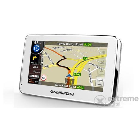 igo8 ausztria térkép Navon N670 Plus White+ iGO8 Európa térkép (40 ország) 5