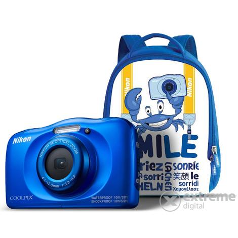 ac97df00eb27 Nikon Coolpix W100 fényképezőgép, kék + hátizsák | Extreme Digital