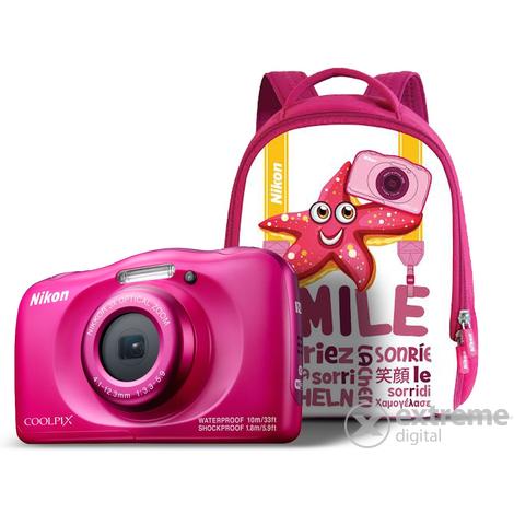 7b981c3add6f Nikon Coolpix W100 fényképezőgép, rózsaszín + hátizsák | Extreme Digital