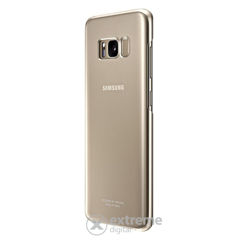 Samsung Galaxy S8 clear cover tok, arany