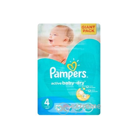 Пелени Pampers Active Baby-Dry   4 Maxi 76 бр.