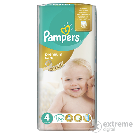 Pampers Premium Care pelenka 4 maxi 52 db