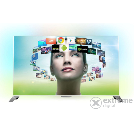 Телевизор 3D ANDROID SMART LED Philips 55PFS8209/12 +2бр.3D очила,бял