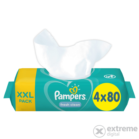 Pampers Fresh Clean törlőkendő, 12x80 db