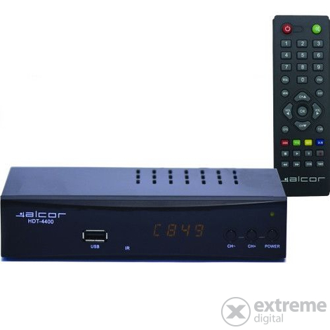 Alcor DV Set-Top-Box HDT 4400 DVB-T/T2 vevő
