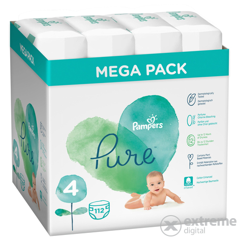 Pampers Pure pelenka Value Pack 4-es méret, 4x28 db