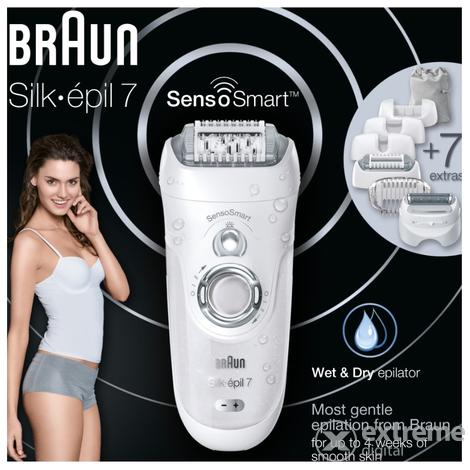 Braun SES 7 880 Silk-épil 7 SensoSmart Wet Dry epilátor szett ... d8d2d3c0ea