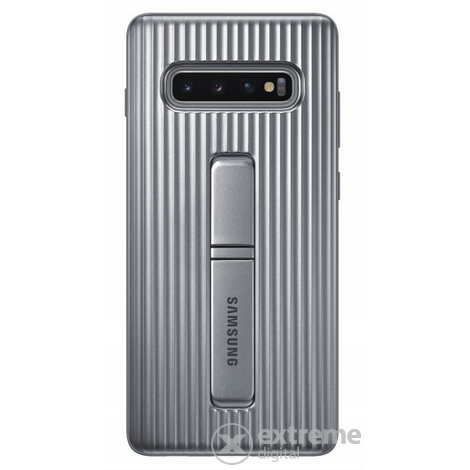 Samsung Galaxy S10+ Protective Standing cover műanyag tok, ezüst