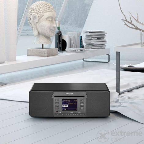 Sangean DDR-66BT Internet / DAB+ / FM rádió / CD lejátszó / USB / SD / Network player / Bluetooth