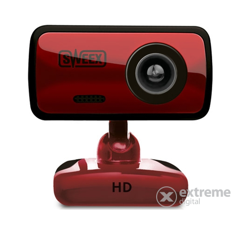 "Sweex WC252 HD USB ""Cherry Red"" webkamera, červená"