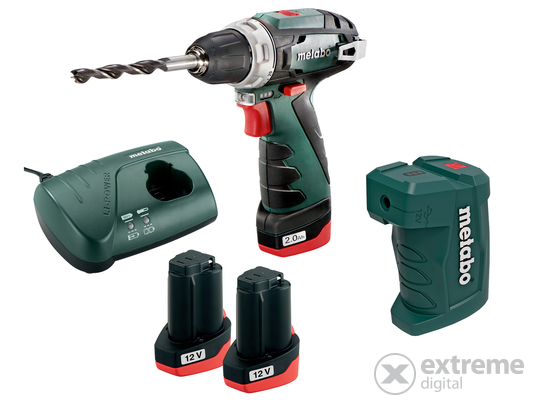 Metabo PowerMaxx BS Basic 2 akkus fúró-csavarozó, 10,8V, 2x2, 0Ah Li-Ion + PA USB adapter