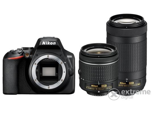 19df50a75b6a -17%. Nikon D3500 DSLR fényképezőgép kit (18-55mm VR AF-P + 70-300mm ...