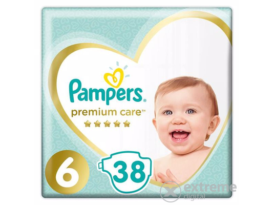 Pampers Premium Value Pack pelenka 6-os méret, 38 db