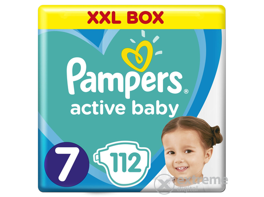 Pampers Active Baby pelenka Monthly Box, 7-es méret, 112 db