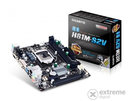 Gigabyte GA-H81M-S2V LGA1150 Micro-ATX alaplap