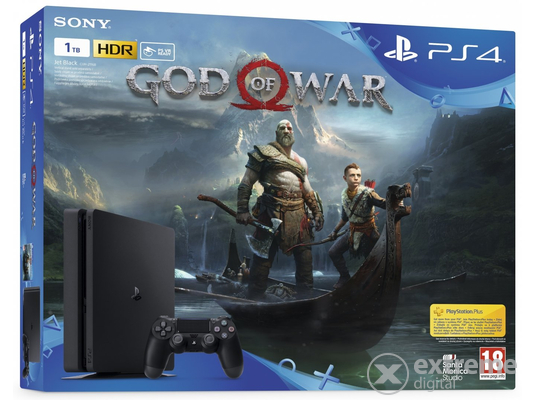 PlayStation® PS4 1TB Slim + God of War játékszoftver