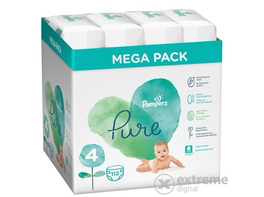 Pampers Pure pelenka Value Pack 4-es méret, 28 db