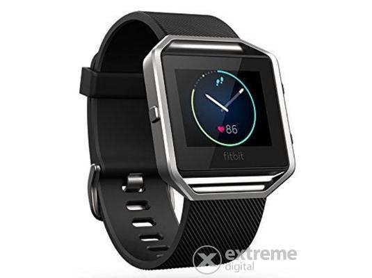 """Fitbit Blaze aktivitásmérő karpánt [FB502SBKL-EU], """"L"""", fekete/ezüst"""