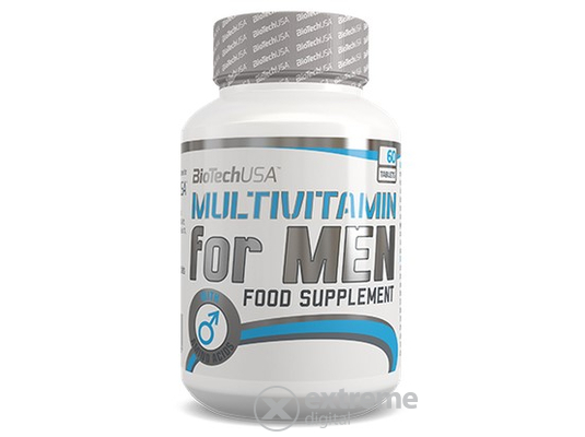 BioTech USA Multivitamin for Men, 60 tabletta, vitamin