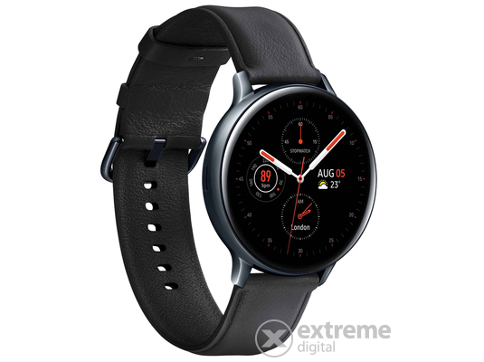 Samsung Galaxy Watch Active 2 okosóra (44mm, Stainless Steel), fekete